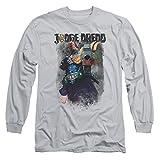 Judge Dredd Movie Last Words T-Shirt à Manches Longues pour Adulte - Argenté - Medium