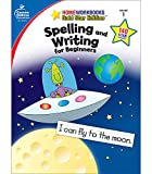 Carson Dellosa Spelling and Writing for Beginners Workbook—Grade 1 Spelling, Sentence Structure, High-Frequency Words, Creative Writing Practice With Stickers (64 pgs) (Home Workbooks)