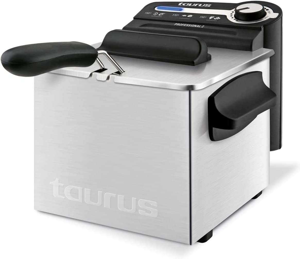 Taurus Professional 2 Plus Freidora, 2 litros, 1700 W, 18/8 Stainless Steel, Acero Inoxidable