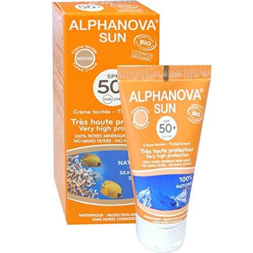 Alphanova Sunscreen Tinted Cream MEDIUM Bio Organic for Summer & Winter - 50g
