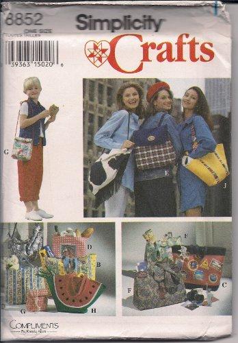 Simplicity Crafts 8852un caprichoso, armario de bolsos, bolsos, bolsas, talla única