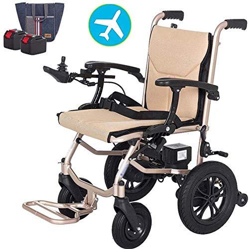 KFMJF Elektrorollstuhl Faltbar Leicht, 360 ° Joystick Lithiumbatterie Elektro Mobilitätshilfe Elektrischer Rollstuhl, Medizinischer Leichte Roller,tragbare Ältere Behinderte Hilfe Auto