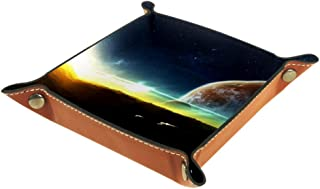 Boîte de rangement pliable en cuir PU pour bureau de rangement de table carrée de jeu de clé porte-monnaie, porte-monnaie,...