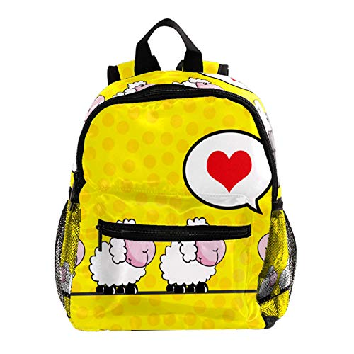 Backpack Multifunction Trekking Daypacks School Backpack Outdoor Sports Bookbag,Cute Animal Sheep Love Story