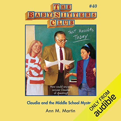 Claudia and the Middle School Mystery audiobook cover art