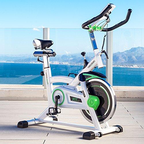 Cecotec Bicicleta Indoor Extreme 25. 25kg Volante inercia, Puls—metro, Pantalla LCD, Resistencia Variable, Estabilizadores, SilenceFit (Extreme 16)