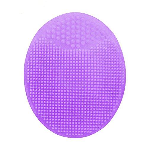 Horen Gommage 3 en 1 en silicone avec ventouse, brosse de nettoyage manuelle pour le visage, pour un nettoyage en profondeur, exfoliation douce, retrait des points noirs et massage, violet, 1 pièce