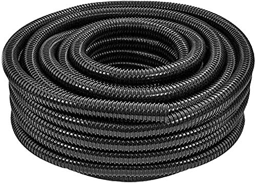 SPARES2GO Flexible Corrugated Water Butt Extension Overflow Connector Hose Pipe (25mm, 5M)