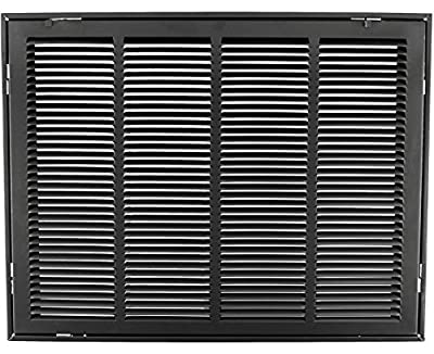 """24"""" X 18 Steel Return Air Filter Grille for 1"""" Filter - Removable Face/Door - HVAC Duct Cover - Flat Stamped Face - [Outer Dimensions: 26.5 X 19.75]"""