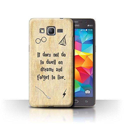 Hülle Für Samsung Galaxy Grand Prime Schule der Magie Film Zitate Dwell On Dreams Design Transparent Ultra Dünn Klar Hart Schutz Handyhülle Hülle