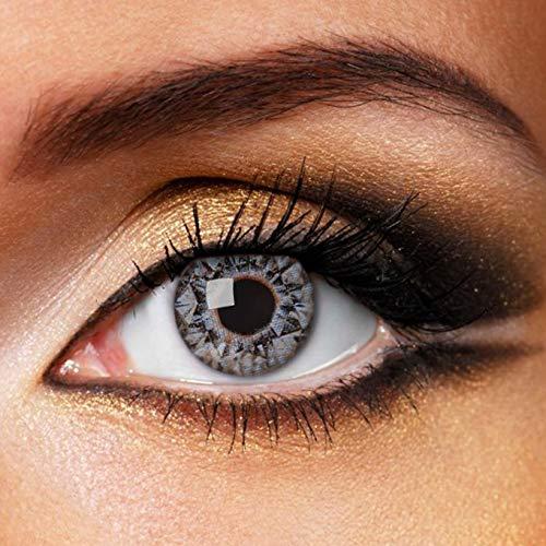 Partylens Farblinsen - Blue Diamonds - weiche Kontaktlinsen - Jahreslinsen mit Kontaktlinsenbehälter Jahreslinsen, Blau, BC 8.6 mm/DIA 14.5 mm / 0 Dioptrien
