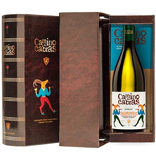 CAMINO DE CABRAS Box mit 1 Flasche Weißwein godello Gourmet D.O.Valdeorras - 100% Godello - 750 ml. - Premium Wein
