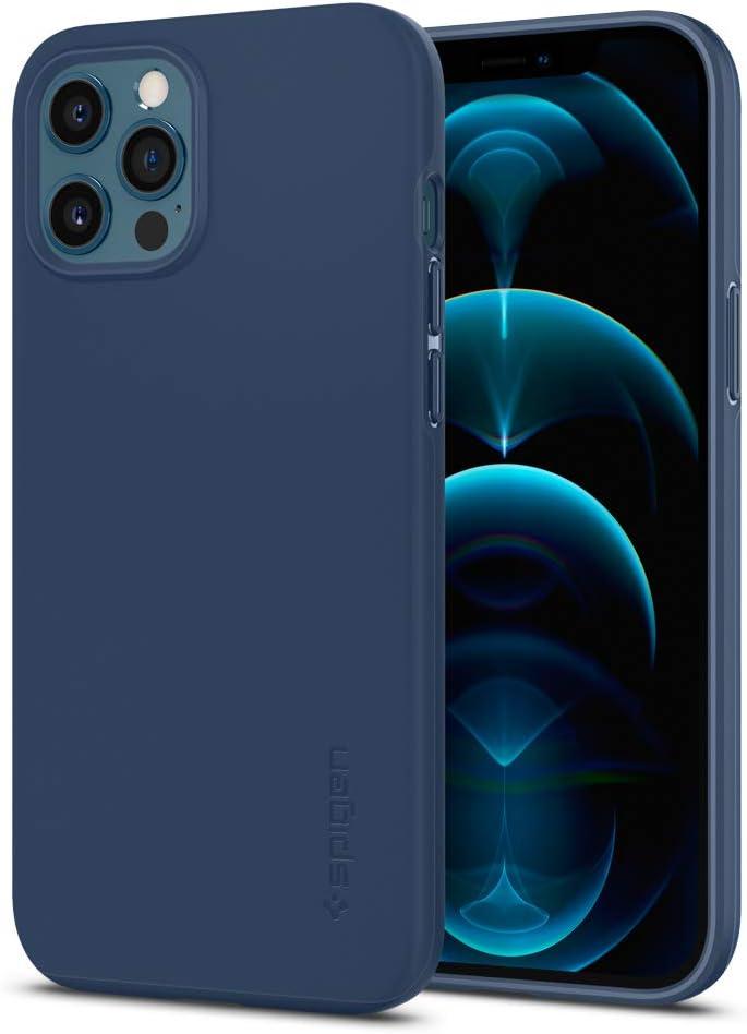Spigen Thin Fit Designed for Apple iPhone 12 Pro Max Case (2020) - Deep Blue