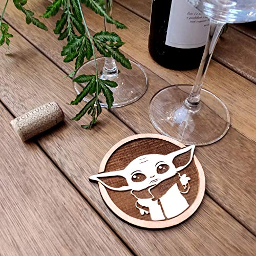 Baby Yoda Wood Coaster - Star Wars