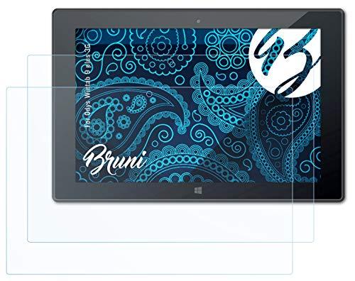 Bruni Schutzfolie kompatibel mit Odys Wintab 9 Plus 3G Folie, glasklare Bildschirmschutzfolie (2X)