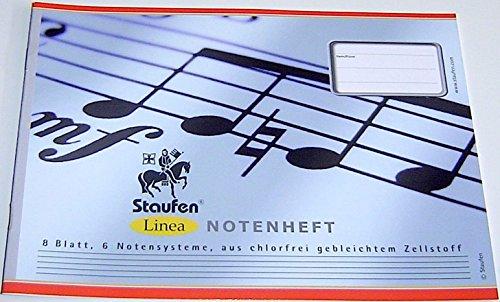 Notenheft DIN A 5 8 Blatt 6 Notensysteme