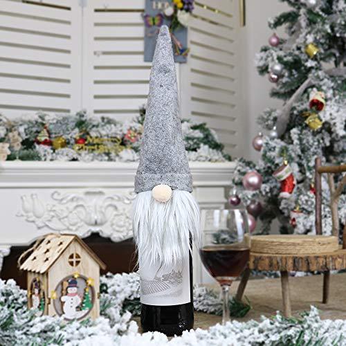 Romsion Home Voor Nieuwe Kerst Decoraties Faceless Oude Man Pop Wijnfles Set Kerstmis Champagne Decoratie Wijntas Gift Bag