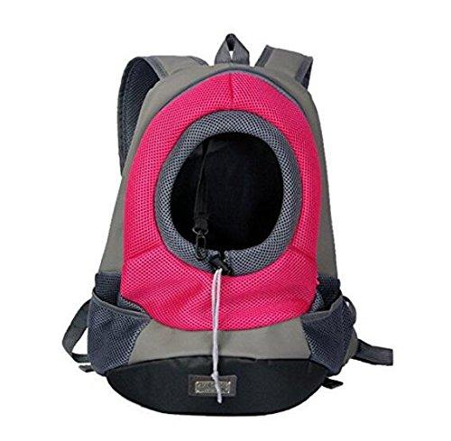 Aiermaisi Pet Carrier Sac à dos Portable Voyage pour chiens et chats Sac Carrier (Taille M, Bleu)