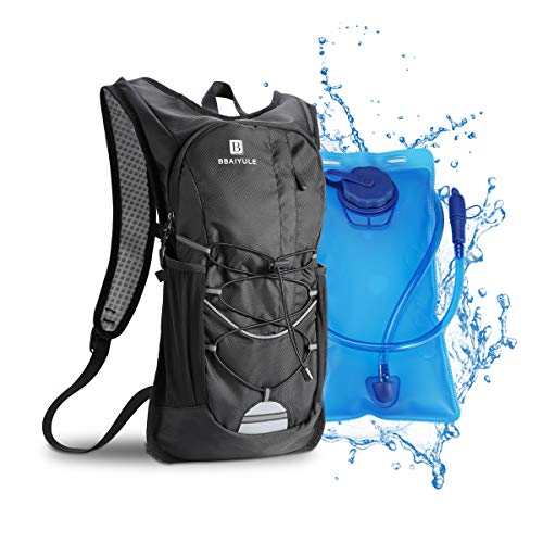 B BBAIYULE Hydration Backpack with 2L Water Bladder, Hydration Packs for Cycling Biking Running Hiking Climbing Skiing, Lightweight Water Backpack with Hydration Bladder for Men and Women