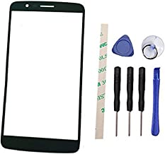 Draxlgon Outer Screen Front Glass Lens Replacement for L G Stylo 3 LS777 L83BL L84VL M430 5.7