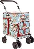 Original Sholley Deluxe 'Chelsea' Faltbare Einkaufstrolley, Einkaufswagen mit Rädern, Einkaufsroller klappbar. Handwagen, Einkaufstache aüf Rädern, 4 Räder, 6 Räder