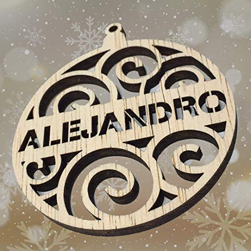 Bolitas para el árbol de Navidad Personalizadas - Bolas de Navidad Personalizadas - Bolas en madera Personalizadas Para Navidad- Adorno Personalizado Navidad- regalo navideño Personalizado