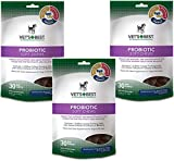 (3 Pack) Vet's Best Probiotic Soft Chews Dog Supplements, Each a 30 Day Supply