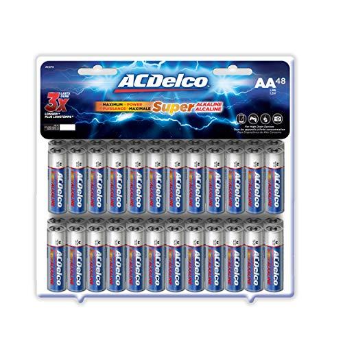 ACDelco 48-Count AA Batteries, Maximum Power Super Alkaline Battery