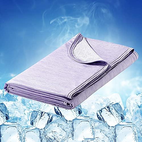 Luxear Manta de refrigeración para verano 150 x 200 cm, color morado