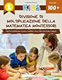 Divisione Di Moltiplicazione Della Matematica Montessori Math Division Flash Cards Multiplication Table: Practice daily easy maths manipulatives ... educational games for beginners kids