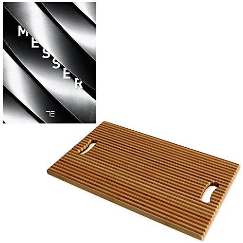 TEUBNER Messer + Schneidbrett Tropicboard Stripes XL 2.0 x 52 x 32 cm