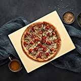 G.a HOMEFAVOR Pizza Stone, 15'x12' Rectangular Heavy Duty Cordierite Durable Baking Stone for Oven, Grill and BBQ, Stone Oven Pizza Pan,Thermal Shock Resistant,Durable and Safe