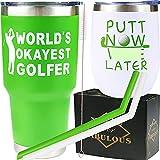 Golf Lover Gifts, Golf Gifts, Golfer Gifts Funny, Gifts for Golfers, Golf Gifts Ideas, Golf Presents, Golfing Tumbler Coffee Mug, Worlds Okayest Golfer, Putt Now
