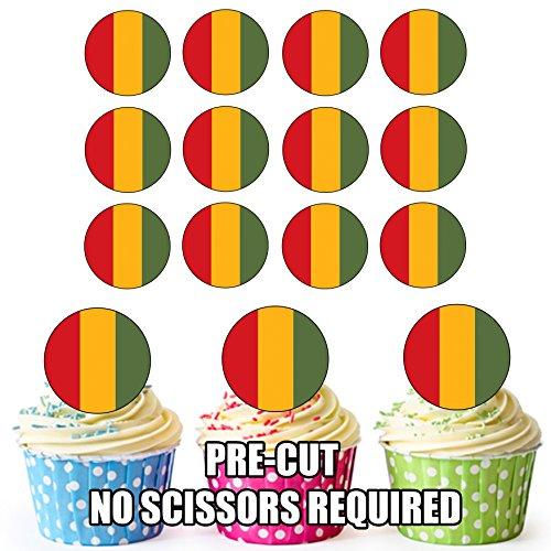 Essbare Cupcake-Dekorationen mit Meerschweinchen-Flagge, 24 Stück