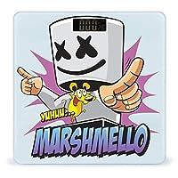 マシュメロ Marshmello (7) 体重計、ステップオンテクノロジーを備えた精密デジタルボディバスルームスケール、強化ガラスイージーリードバックライト付きLCDディスプレイ