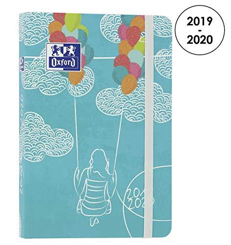 Oxford Lollie Schülerkalender, 2019-2020, 1 Tag Seite, 352 Seiten, 12 x 18 cm, Wolken, Türkis