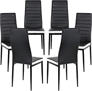 Vendeur pro Lot de 6 chaises Romane pour Salle à Manger, Chaises de Salle à Manger Moderne, 48 * 42 * 97 cm