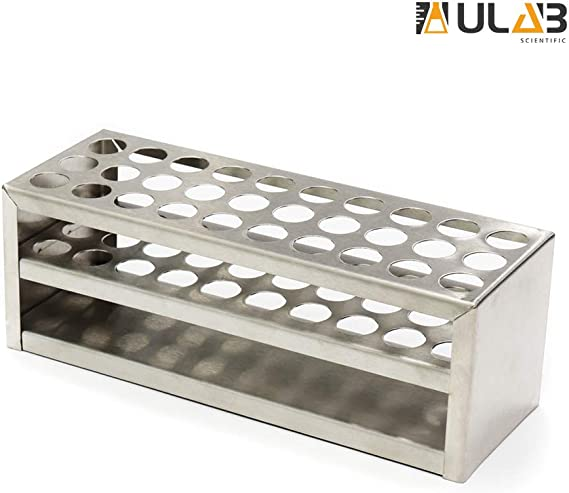 ULAB Scientific Stainless Steel Test Tube Rack