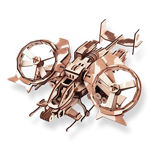 GuDoQi 3D Holz Puzzle, Holzbausatz Flugzeug zu Bauen, DIY Montage Spielzeug Flugzeug Modelle aus Holz, Bastelset, Geburtstags Geschenk fur Erwachsene Männer Jugendliche
