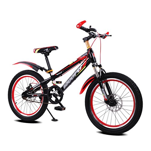 Gai Hua Home Kids' Bikes Tempered Frame Child Bicycle Male and Female Stroller 16 inch Mountain Bike 5-8 Years Old Bicycle (Color : Red)