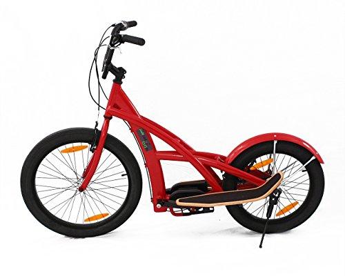 3GBikes Stepperbike rot glänzend mit 7 Gang Premium-Schaltung