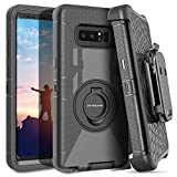 Galaxy Note 8 Case,DUEDUE Ring Kickstand Belt Clip Holster,Shockproof Heavy Duty Hybrid Hard PC Soft Silicone Full Body Rugged Protective Case for Samsung Galaxy Note 8,Black
