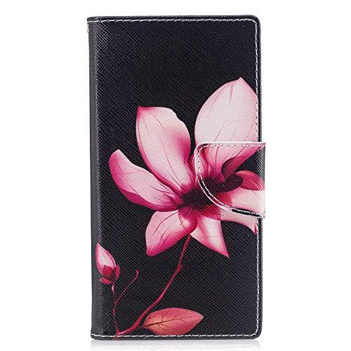 GIMTON Hülle für Sony Xperia XZ/Xperia XZs, Schlagfestes PU Handyhülle mit Dünn und Flexibles TPU, Hochwertige Bookstyle Stil Schutzhülle für Sony Xperia XZ/Xperia XZs, Muster 5