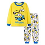 Boys Pajamas Sets Children Christmas Pants 100% Cotton Spider-Man Long Kids Snug Fit Pjs Winter Toddler Sleepwear (Minions, 6T)