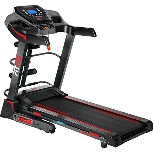 Fitfiu Fitness MC-500 - Cinta de correr plegable con inclinación automática, velocidad regulable hasta 18 km/h, superficie de carrera de 41 x 123 cm, motor de 2200W, pulsómetro y accesorios fitness
