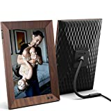 Nixplay Smart Digital Picture Frame 10.1 Inch Wood-Effect - Share Video Clips and Photos Instantly via E-Mail or App
