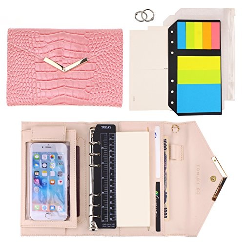 SynLiZy A6 PU Leather Personal Organizer Planner Set of 12 Accessories