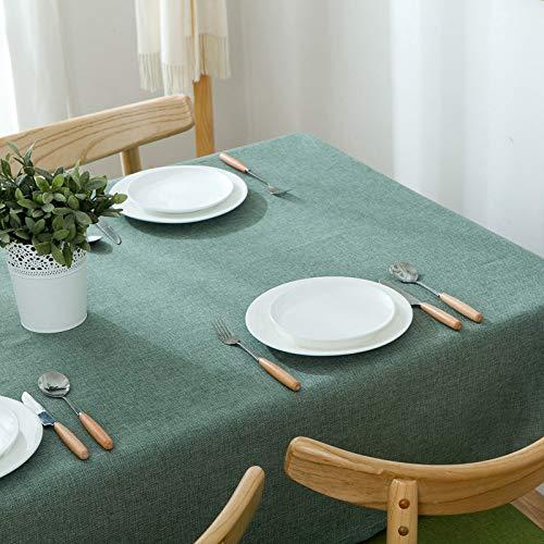 XIAOE Cubierta de Mesa Manteles Grises Mantel de Comedor Mantel para el hogar Rectangular Impermeable A Prueba de Aceite Mantel Anti Caliente Mantel de algodón Tela mostrador 90 * 140cm
