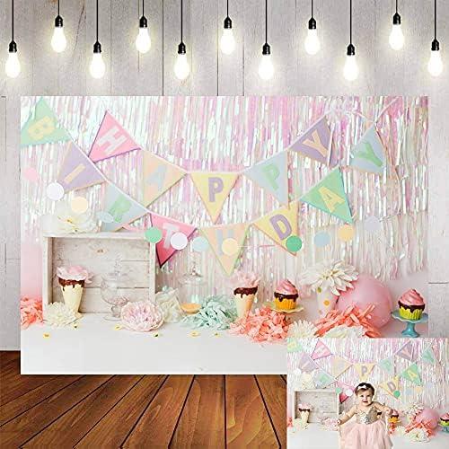 KIVDFIGC Bargain sale Photography Background Ice Cream Deluxe Bi Candy Cupcakes Girl
