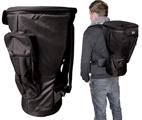 Djembe Zaino Deluxe 65cm Ø 39cm completo foderato impermeabile Orso Djembe Bag